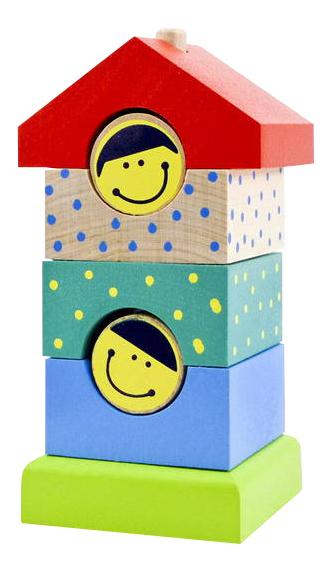 Купить Пирамидка деревянная Alatoys Домик ПДМ02, Алатойс, Пирамидки для детей