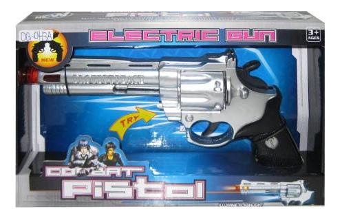 Купить Combat Pistol, Пистолет электромеханический в коробке, 28х4, 7х16, 9 см, Junfa toys, Игрушечные пистолеты