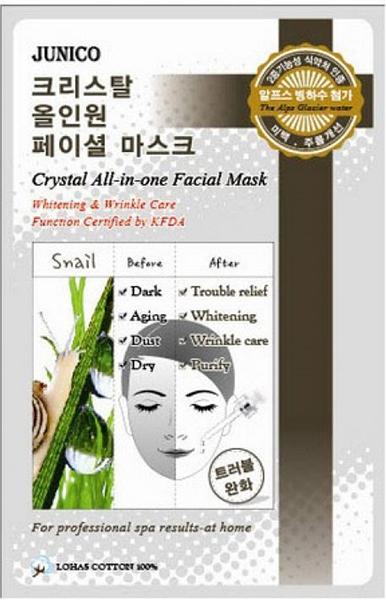 Купить Маска для лица Junico Crystal All-in-one Facial Mask Snail 25 г