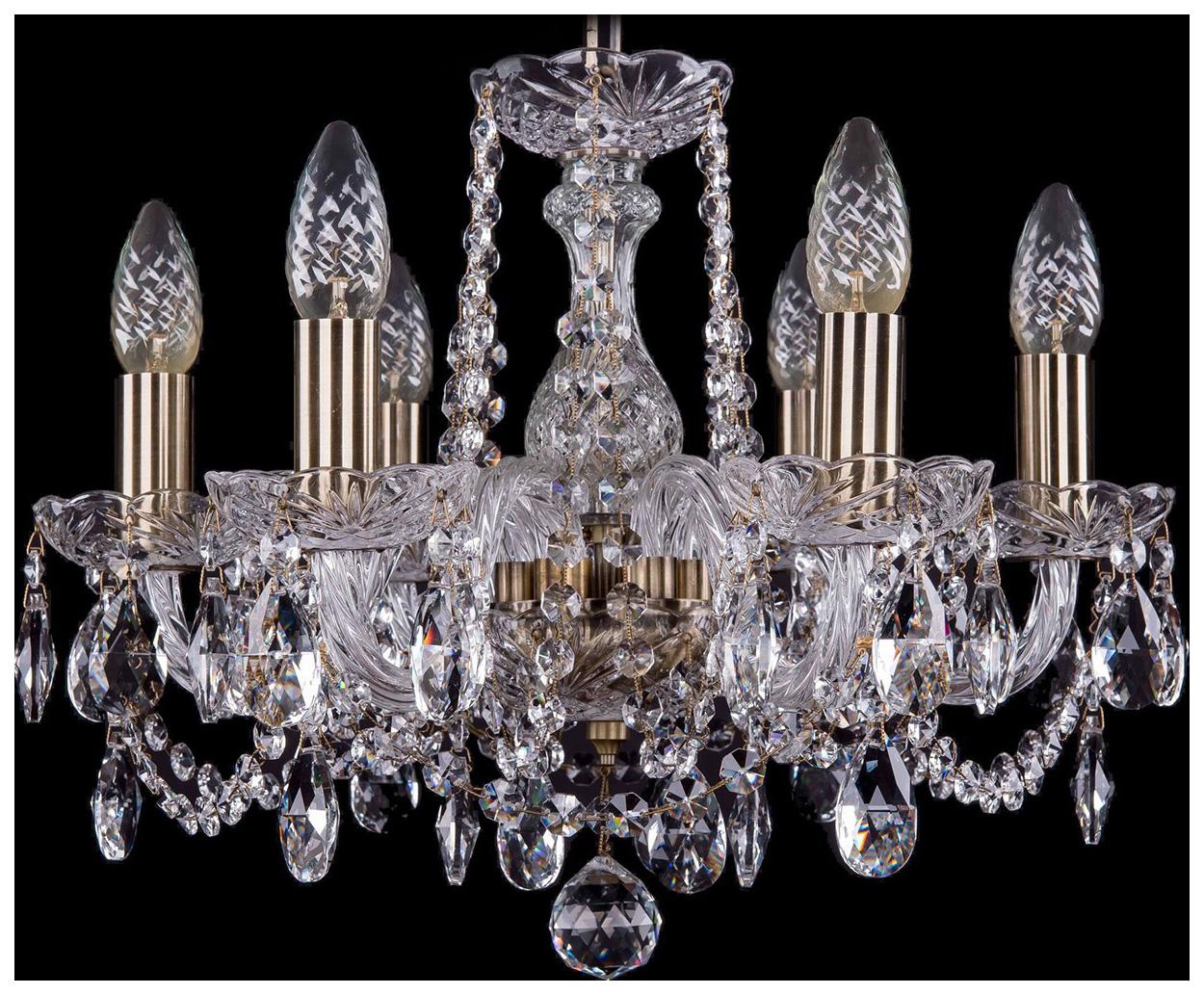 Люстра подвесная Bohemia Ivele Crystal 1402/6/141/Pa фото