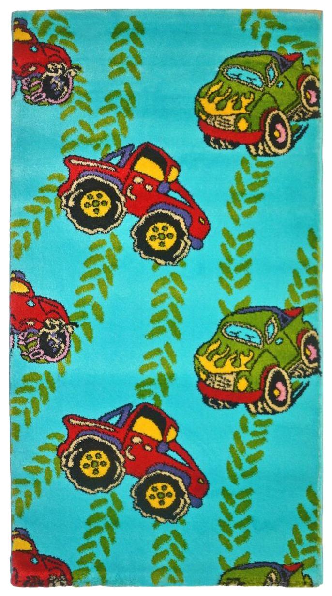 Купить Ковер детский Kamalak tekstil голубой+красный 80х150 УКД-2071, Коврики для детской