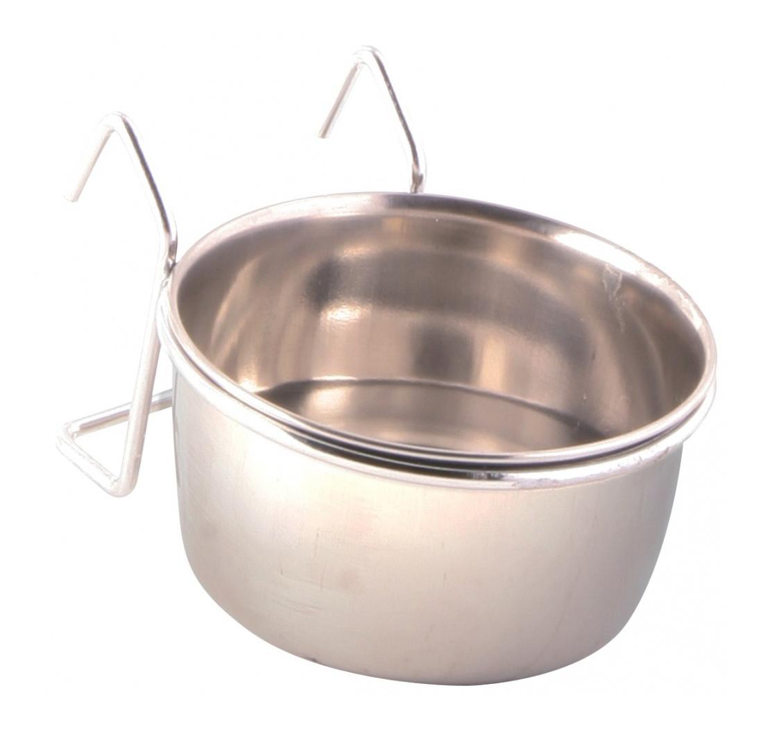 Одинарная миска для птиц TRIXIE, сталь, серебристый,