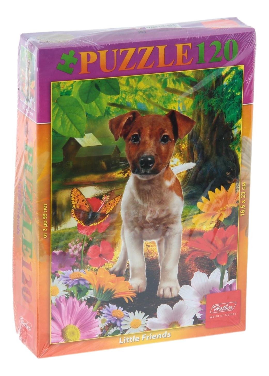 Купить Пазл Hatber Забавный щенок 120 элементов, Пазлы