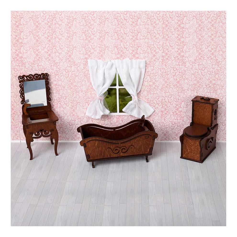 Ванная комната коричневый для кукольного дома ЯиГрушка