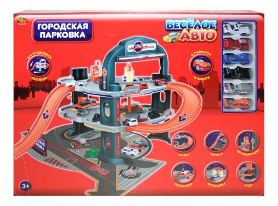 Парковка игрушечная Rinzo Веселое авто 2-х уровневая городская Парковка фото