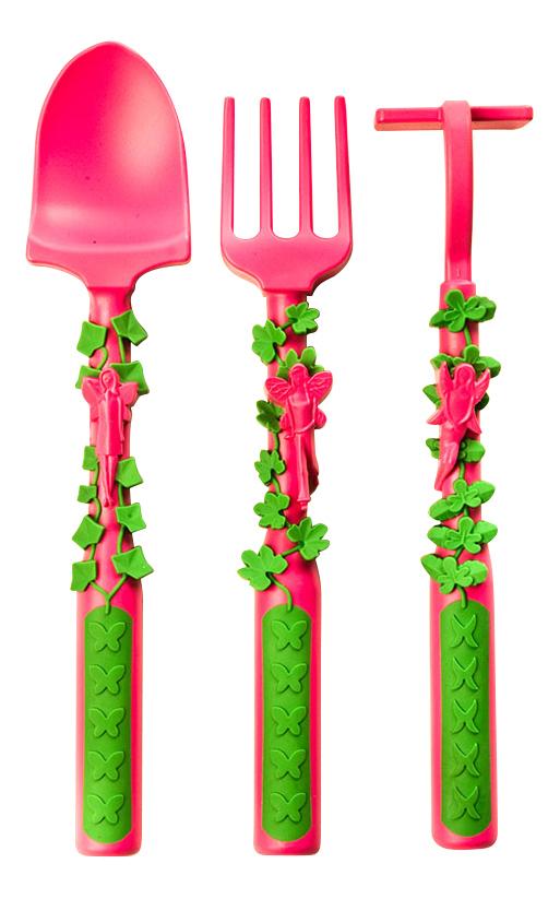 Купить Набор детских столовых приборов Constructive Eating Волшебный сад розовый, Посуда и столовые приборы