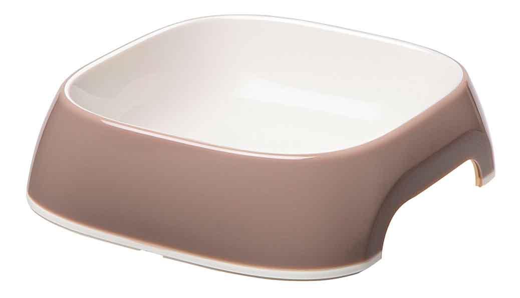 Одинарная миска для кошек и собак Ferplast, пластик, резина, коричневый, 0.2 л фото