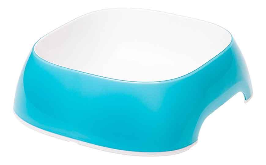 Одинарная миска для кошек и собак Ferplast, пластик, резина, голубая, 0,75л фото