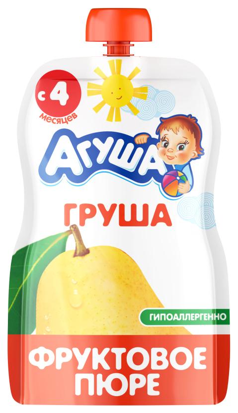 Купить Груша 90 г, Пюре фруктовое Агуша Груша с 4 мес 90 г, Детское пюре