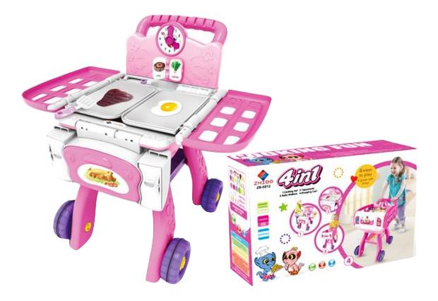 Тележка игрушечная Shantou Gepai Хозяюшка ZB-6012 фото