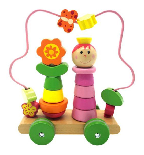 Купить Девочка на колесиках, Mapacha Лабиринт пирамидка Mapacha девочка на колесиках 76729, Пирамидки для детей