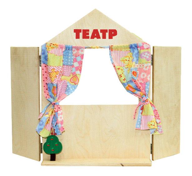 Купить Деревянная игрушка для малышей КРАСНОКАМСКАЯ ИГРУШКА Ширма для кукольного театра, Краснокамская Игрушка, Развивающие игрушки