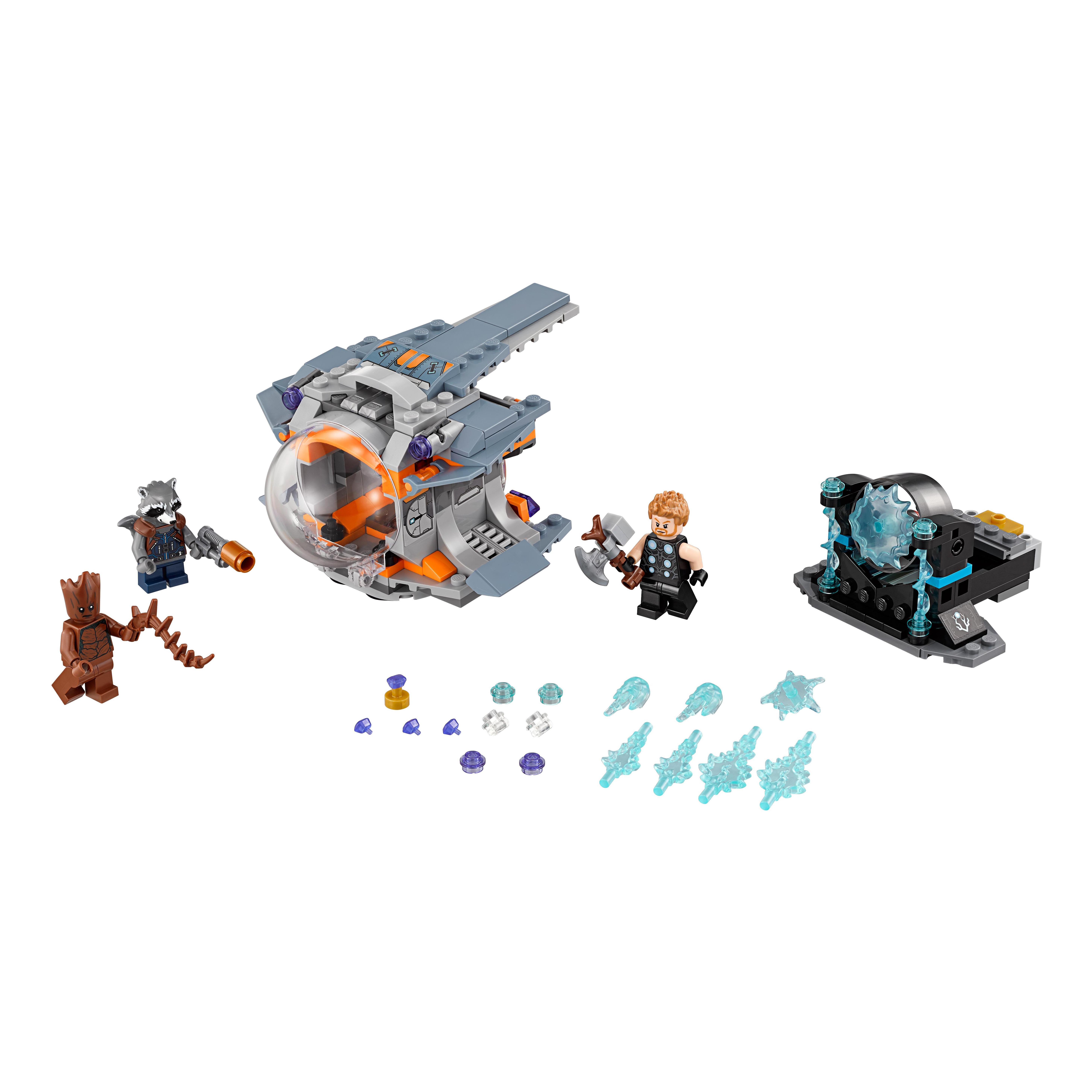 Конструктор LEGO В поисках оружия Тора 76102