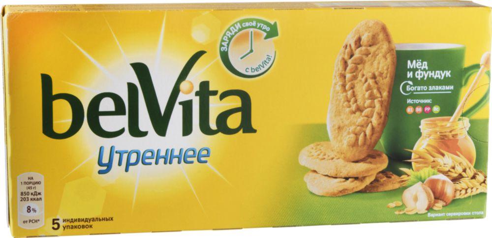 Печенье утреннее BelVita мед и фундук 225 г фото