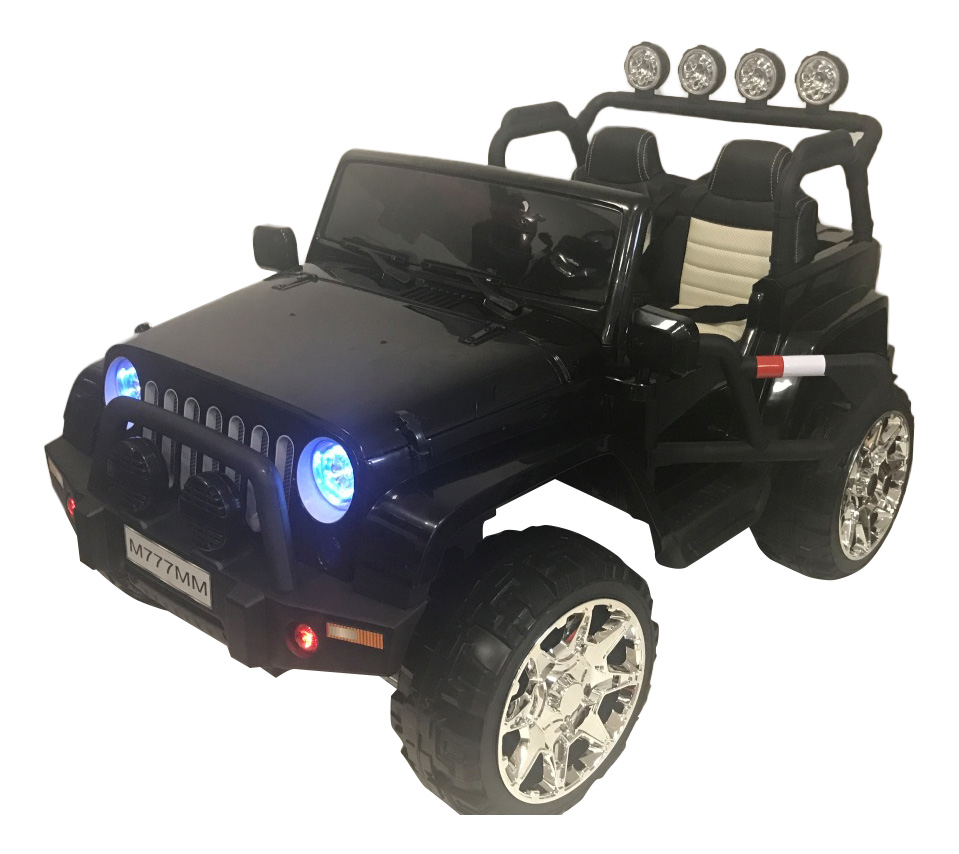 Электромобиль Jeep черный RIVERTOYS