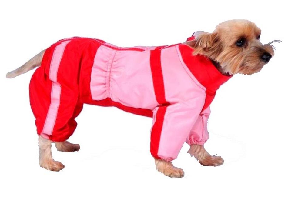 Комбинезон для собак ТУЗИК размер XXL женский, красный, розовый, длина спины 46 см