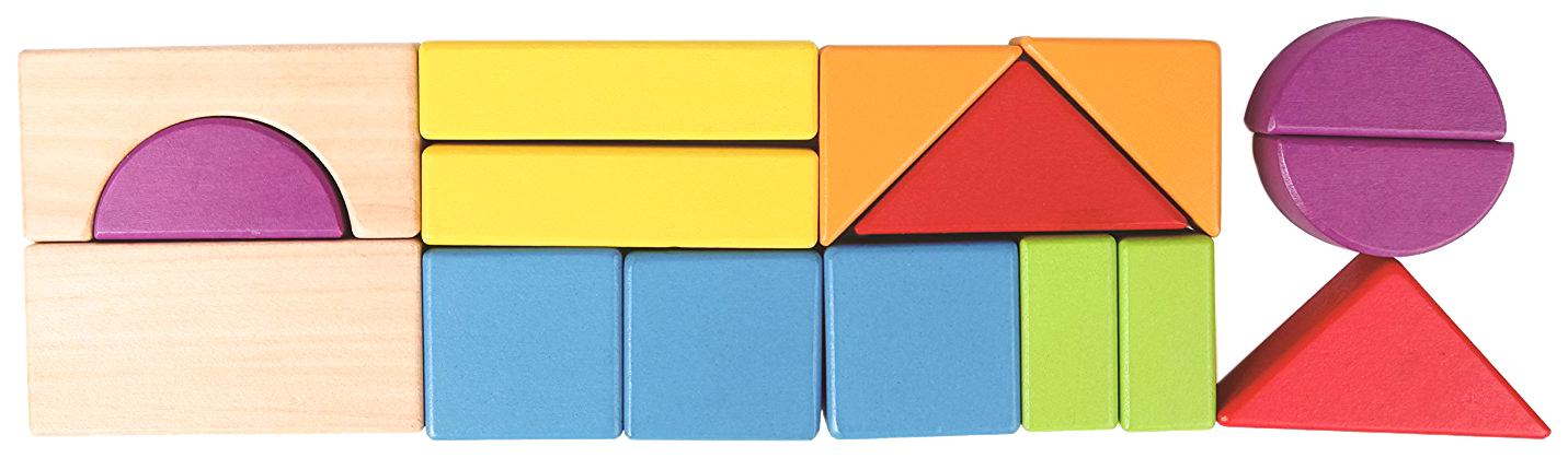 Купить Конструктор деревянный Hape Кубики Город 15 деталей E0904, Деревянные конструкторы