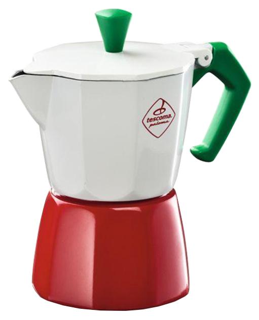 Кофеварка гейзерная Tescoma PALOMA Tricolore 647033 Белый, красный, зеленый
