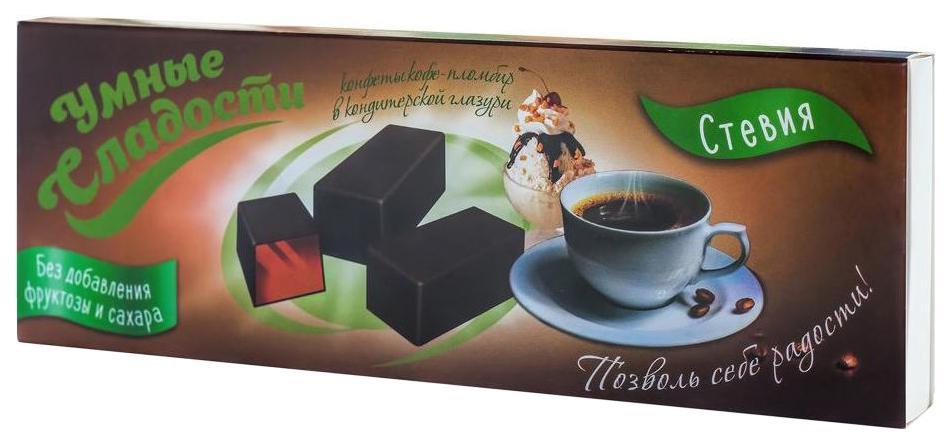 Конфеты желейные Умные сладости со вкусом кофе-пломбир в кондитерской глазури 105 г фото