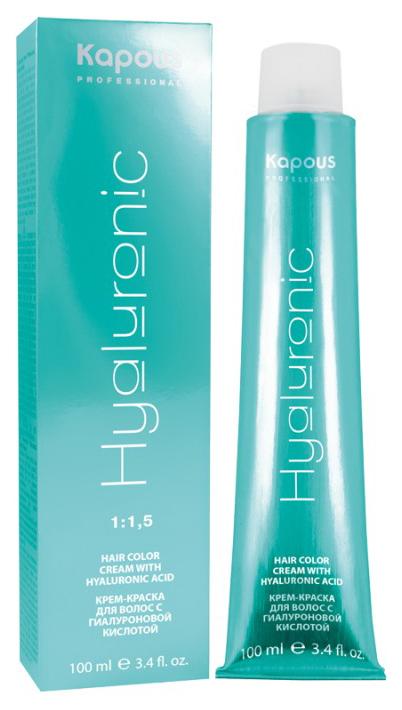 Краска для волос Kapous Professional Hyaluronic acid 8.1 Светлый блондин пепельный 100 мл