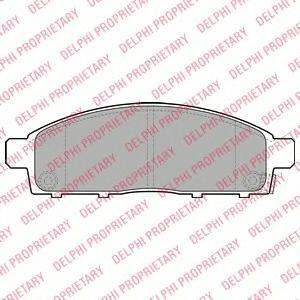 Тормозные колодки дисковые Delphi LP2074 фото