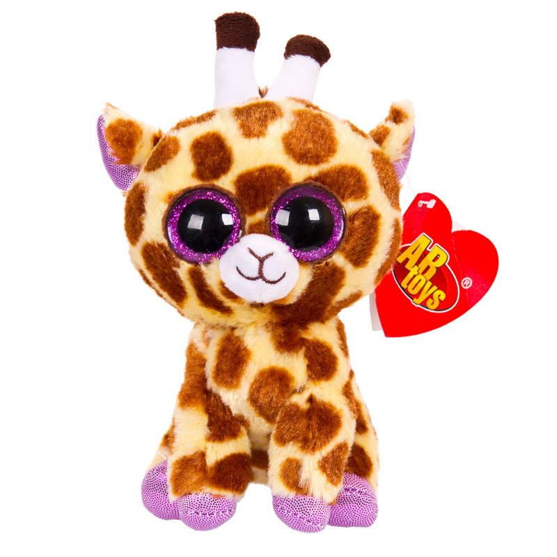 Купить Мягкая игрушка ABtoys Жираф коричневый 15 см, Мягкие игрушки животные