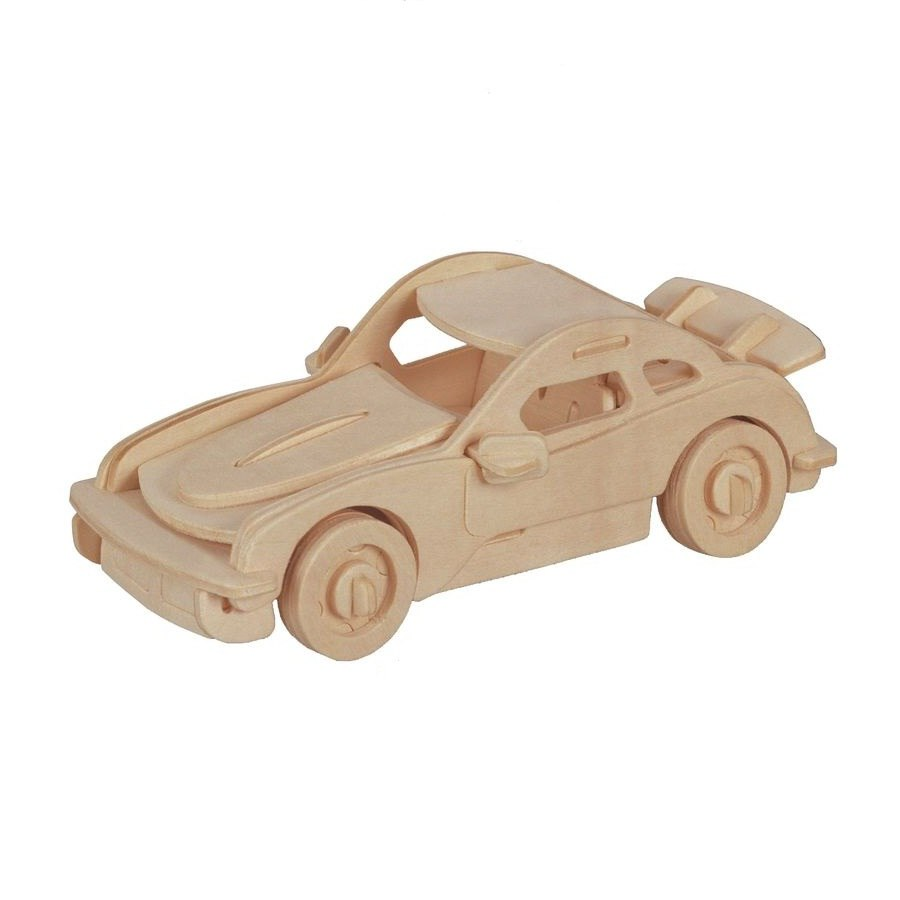 Купить Модель деревянная сборная Порше, Wooden Toys, Модели для сборки