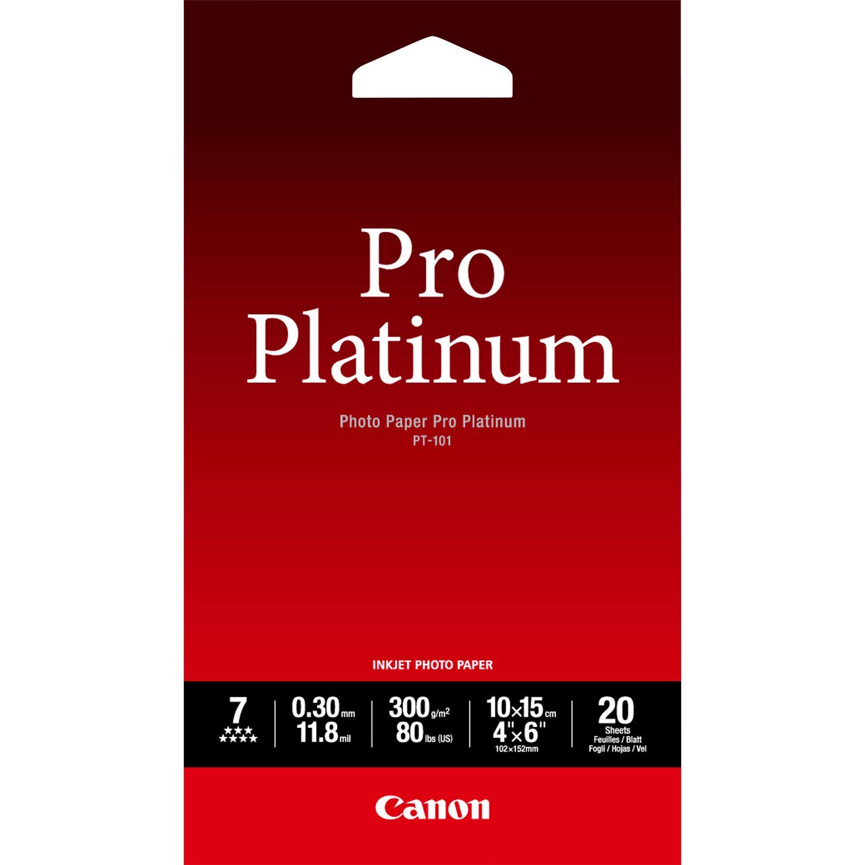 """Бумага глянцевая Canon """"PT-101"""", А6, 300 г/м², 20 листов"""