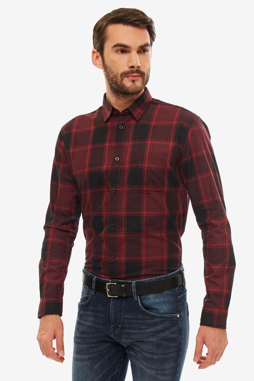 Рубашка мужская TOM TAILOR красная