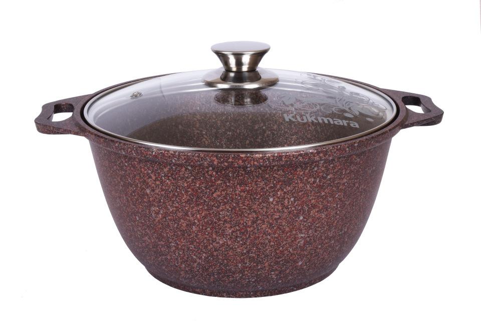 Кастрюля антипригарная литая 3,0л Granit ultra red