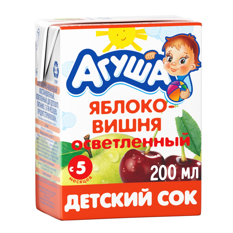 Сок Агуша Яблоко и вишня с