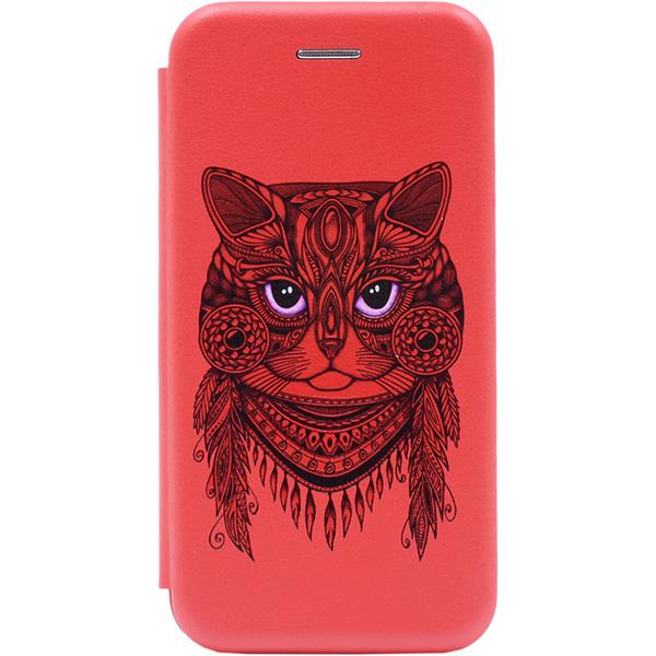 Чехол Gosso Cases для Huawei P Smart Z / Y9 Prime (2019) Red «Grand Cat»