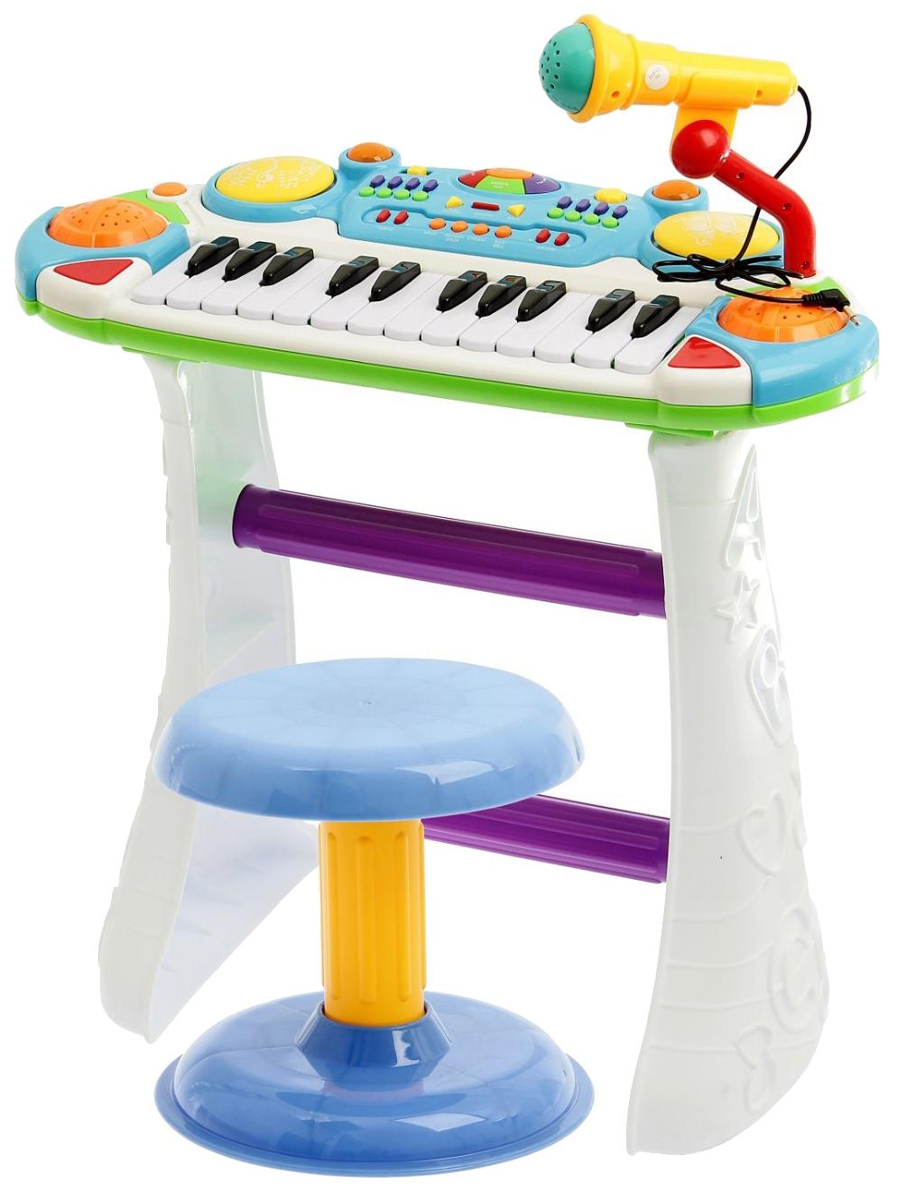 Купить Напольный синтезатор «Лучший музыкант», со стульчиком и микрофоном Sima-Land, Детские музыкальные инструменты