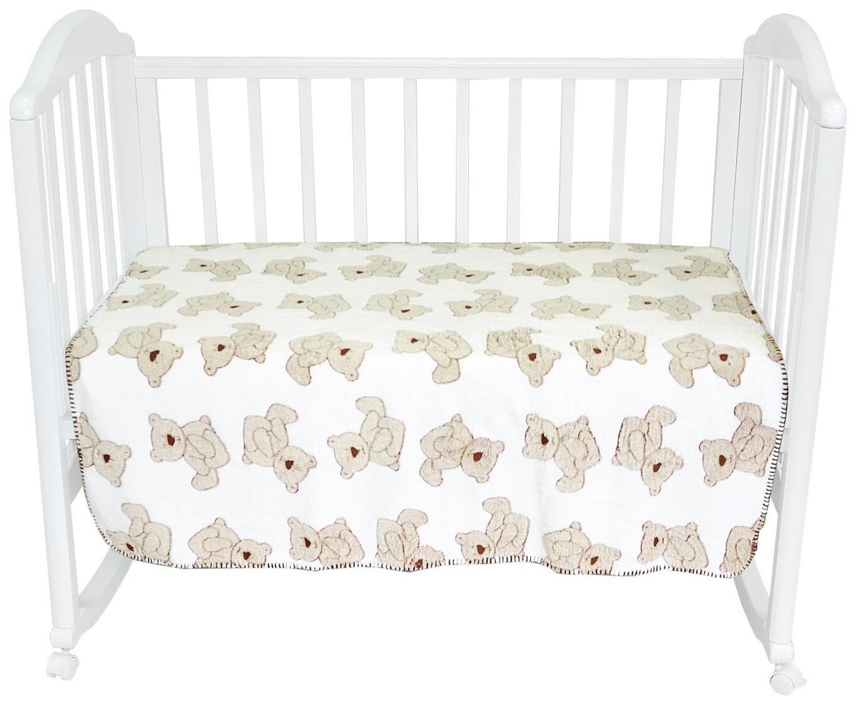 Плед-покрывало Baby Nice Мишки на белом 75x100