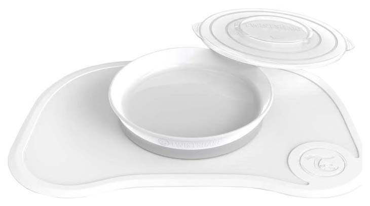 Коврик для кормления с тарелочкой Twistshake Click Mat, белый