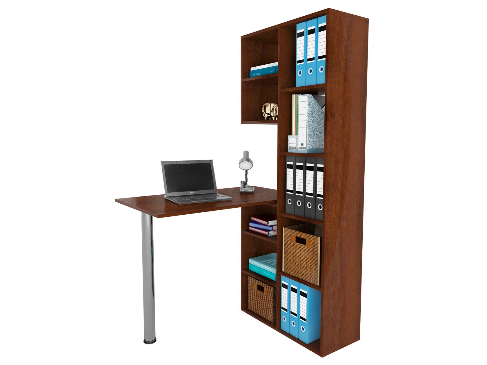 Компьютерный стол в комплекте МФ Мастер Рикс-2+Рикс-6 110x97,8x171,6, орех итальянский