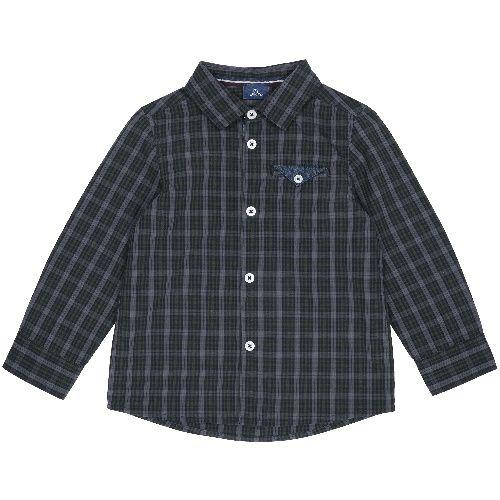 Купить 9054509, Рубашка Chicco для мальчиков, размер 116, цвет темно-зеленый,