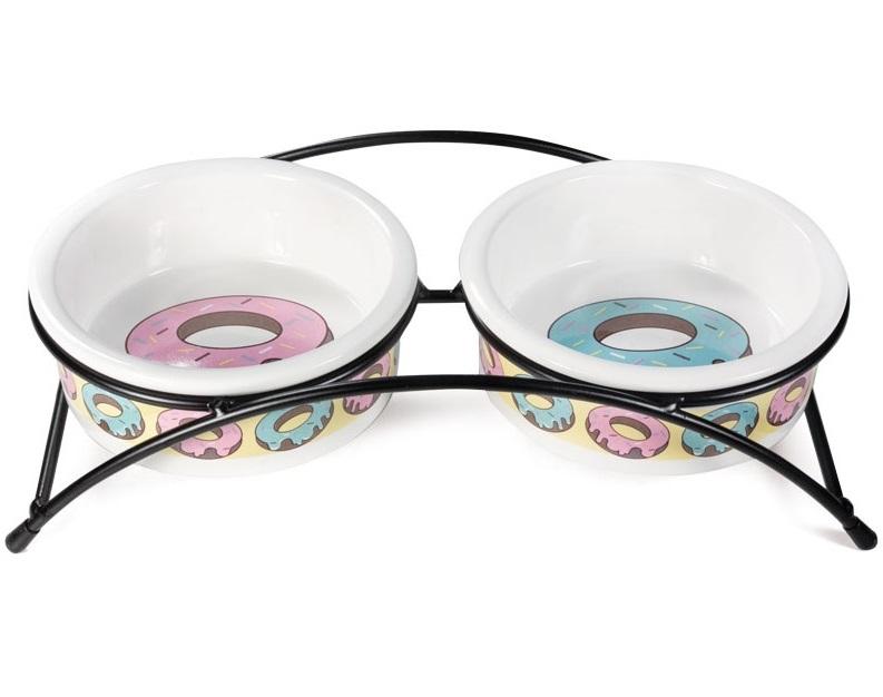 Миска для животных Triol Пончики, керамическая,