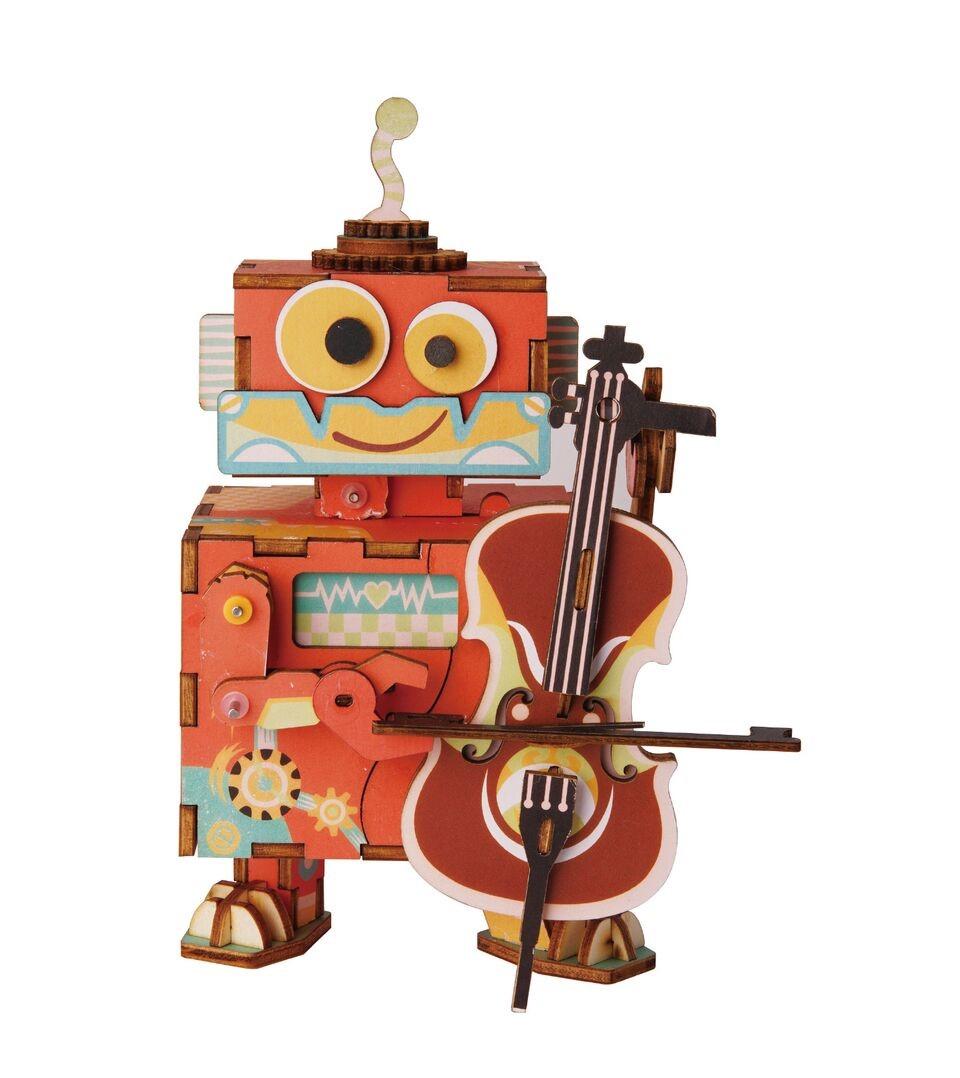 3d деревянный пазл robotime музыкальная шкатулка юный