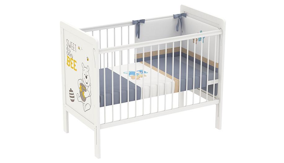 Купить Кроватка Polini kids Disney baby 220 Медвежонок Винни и его друзья белая, Классические кроватки