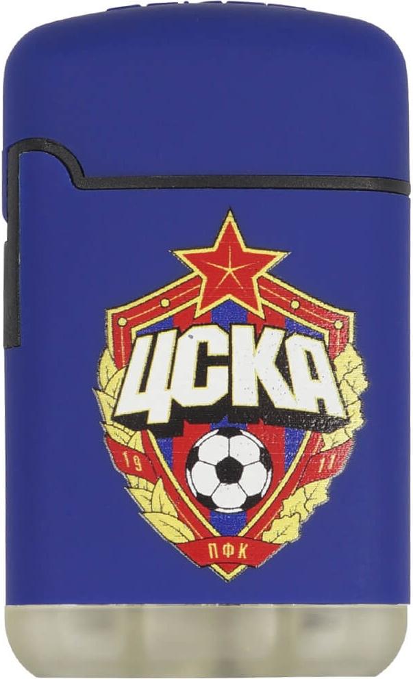 Зажигалка ПФК ЦСКА Эмблема синяя фото