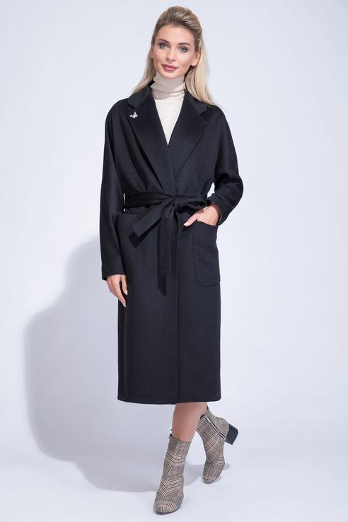 Пальто-халат женское ElectraStyle 5-8121-289 черные 42 RU