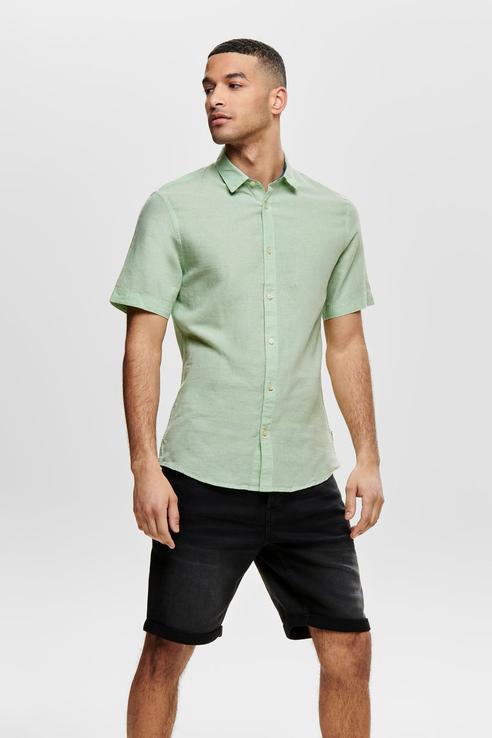 Рубашка мужская ONLY & SONS 22009885 зеленая XL