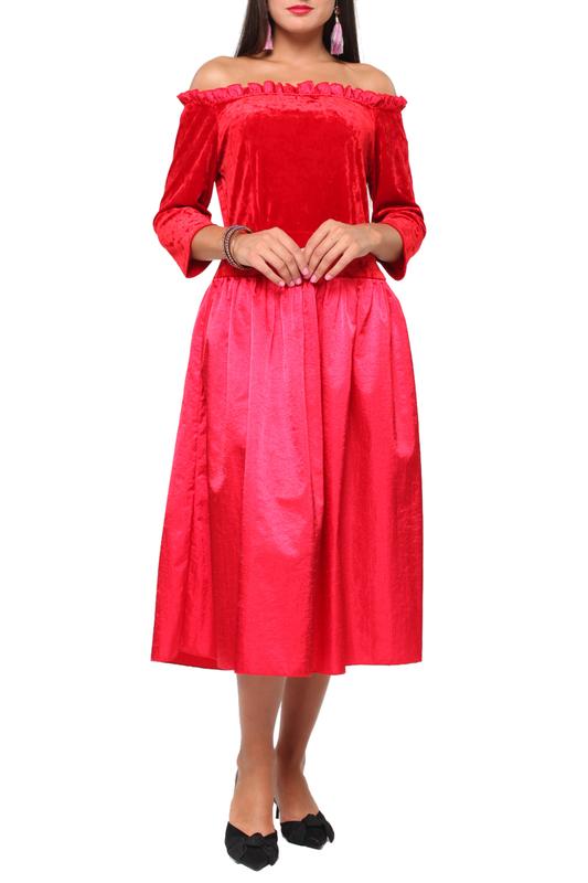 Платье женское LISA BOHO GRACE 180972 красное 50-52 EU