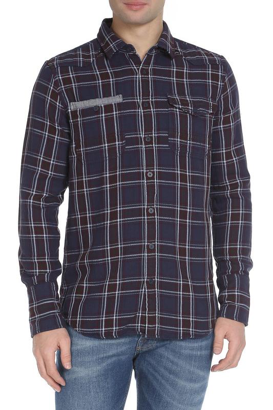 Рубашка мужская Amsterdenim AM1603433 синяя L