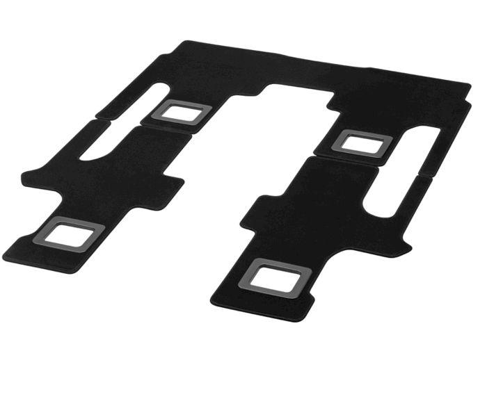 Коврики салона велюровые черные 3шт v447 MERCEDES-BENZ арт. A4476802002