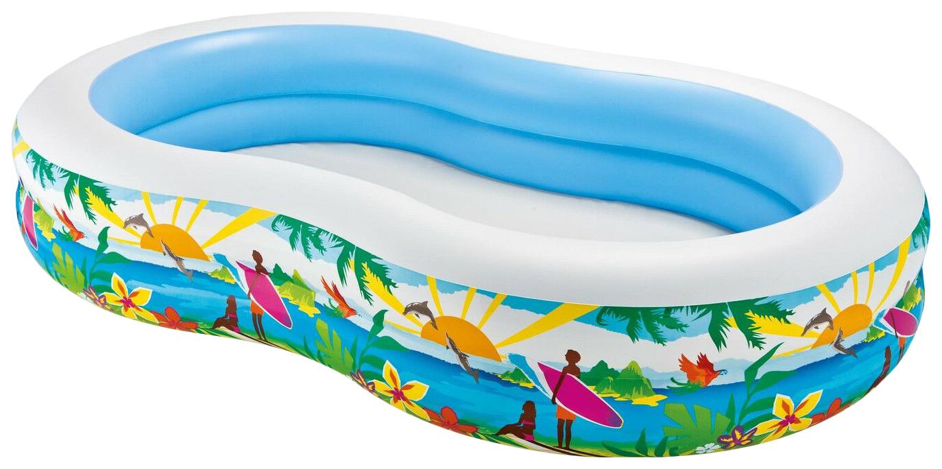 Купить Детский Бассейн Intex Райская Лагуна 262Х160Х46 56490, Детские бассейны
