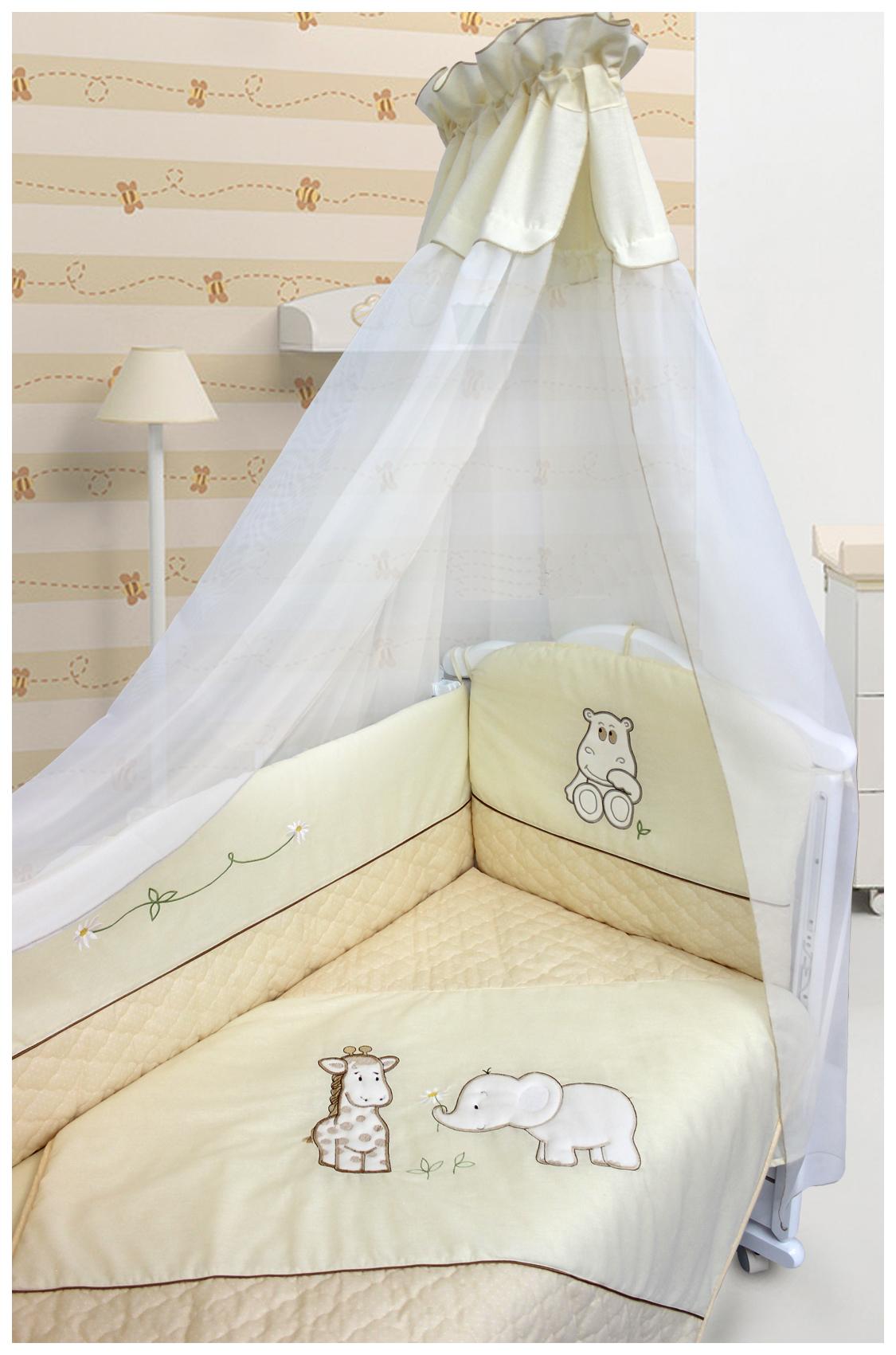 Купить Сафари , 6 предметов, Комплект детского постельного белья Bombus САФАРИ 1493, Комплекты детского постельного белья