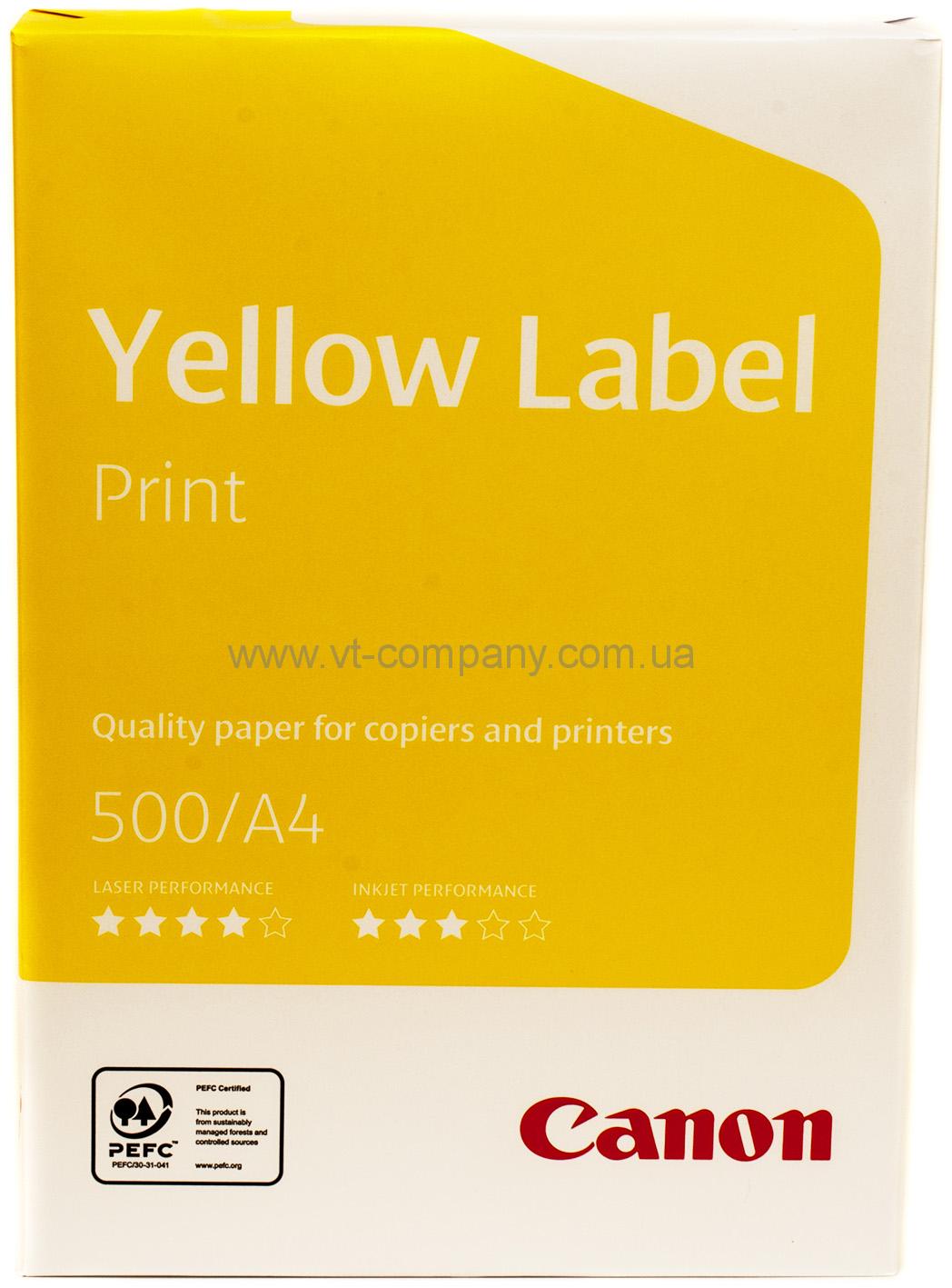 Бумага офисная Canon Yellow Label Print A4 Класс C+ 500 Листов