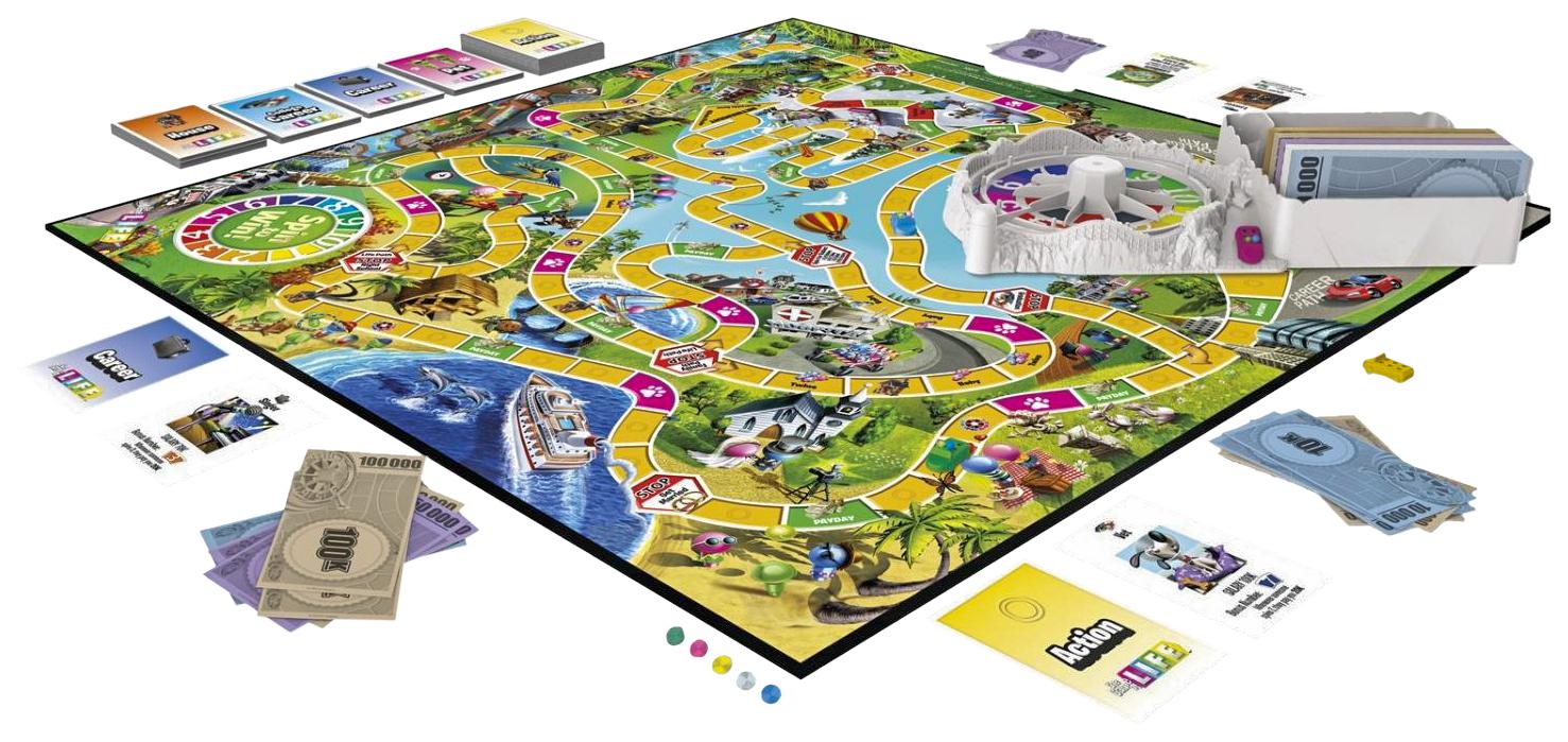 Купить Игра настольная Hasbro Игра в жизнь, Семейные настольные игры